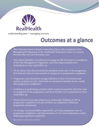 Outcomes at a glance