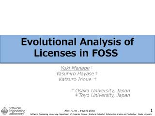 Evolutional Analysis of Licenses in FOSS