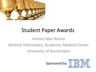 Student Paper Awards