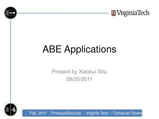 ABE Applications