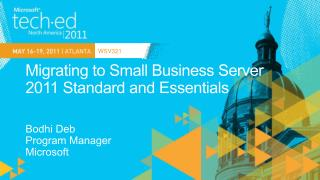 Migrating to Small Business Server 2011 Standard and Essentials