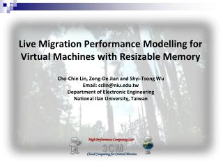 Live Migration Performance Modelling for Virtual Machines with Resizable Memory