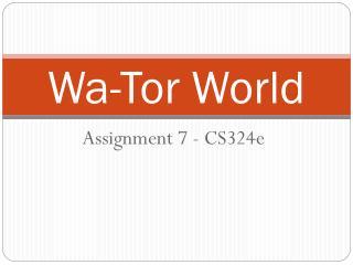 Wa-Tor World