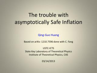 The trouble with asymptotically Safe Inflation