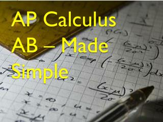 AP Calculus AB  – Made  Simple