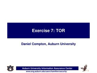 Exercise  7:  TOR