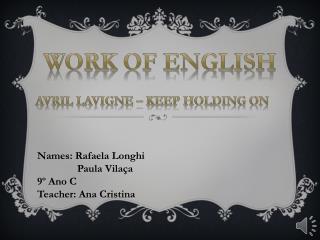 W ork of English