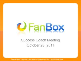 Success Coach Meeting October 28, 2011