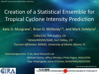 Creation of a Statistical Ensemble for Tropical Cyclone Intensity Prediction