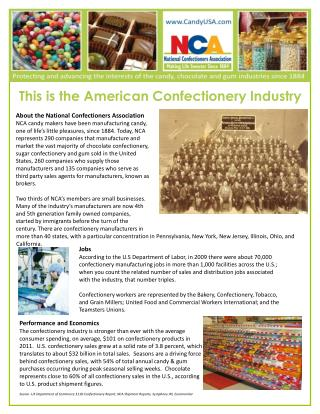 This is the American Confectionery Industry