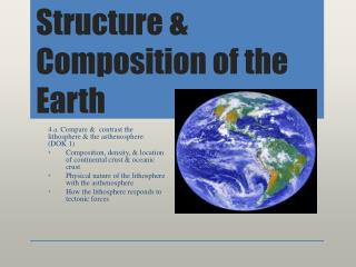 Structure & Composition of the Earth