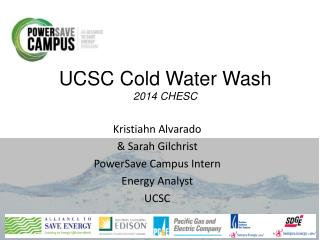UCSC Cold Water Wash 2014  CHESC