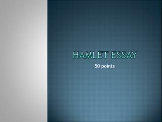 Hamlet Essay