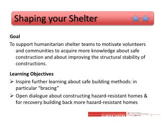 Shaping your Shelter