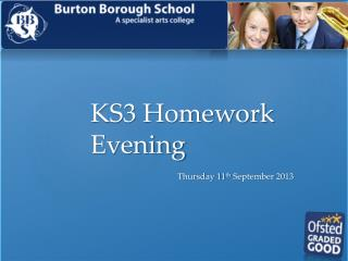 KS3 Homework Evening