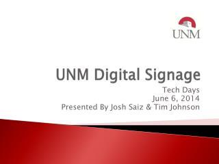 UNM Digital Signage