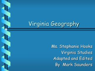 Virginia Geography