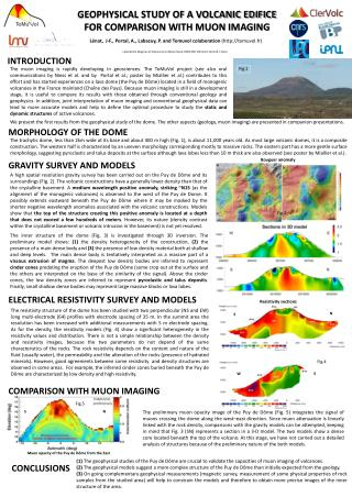GEOPHYSICAL STUDY OF A VOLCANIC EDIFICE FOR COMPARISON WITH MUON IMAGING
