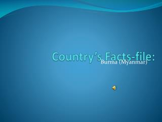 Country's Facts-file: