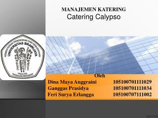 MANAJEMEN KATERING Catering Calypso