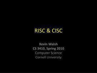 RISC & CISC
