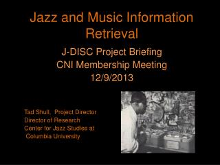 Jazz and Music Information Retrieval