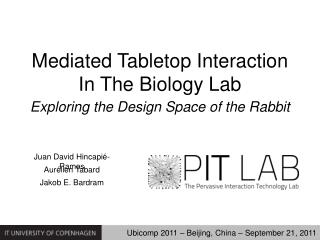 Mediated Tabletop Interaction In The Biology Lab