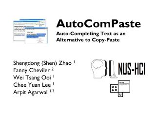AutoComPaste Auto-Completing Text as an  Alternative to Copy-Paste