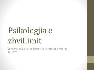 Psikologjia  e  zhvillimit