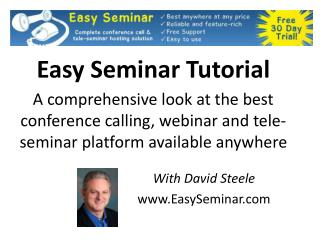With David Steele EasySeminar