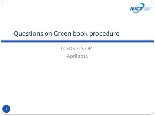Questions on  Green book procedure