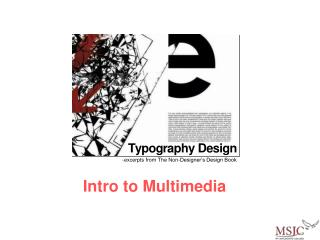 Intro to Multimedia