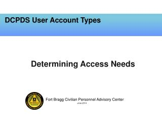 DCPDS User Account Types