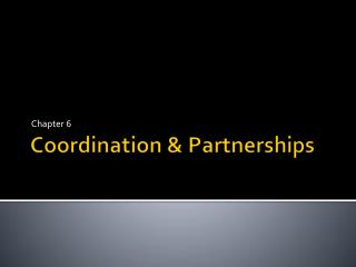 Coordination & Partnerships