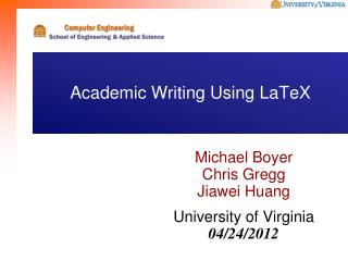 Academic Writing Using LaTeX