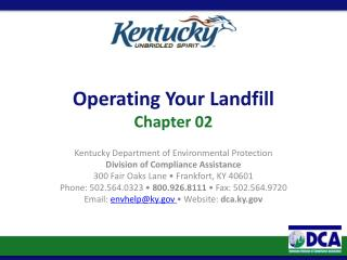 Operating Your Landfill  Chapter 02