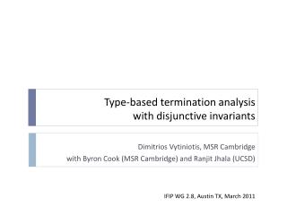 Type-based termination analysis  with disjunctive invariants