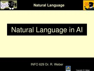 Natural Language in AI