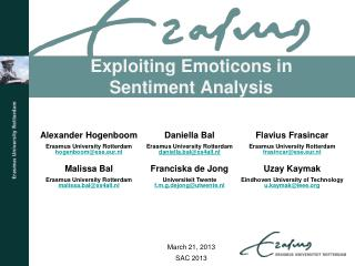 Exploiting Emoticons in Sentiment Analysis