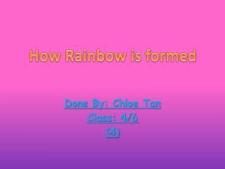 Done By: Chloe Tan Class: 4/6 (4)