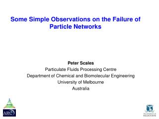 Some  Simple Observations  on the  Failure  of  Particle Networks