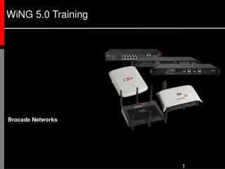 WiNG 5.0 Training