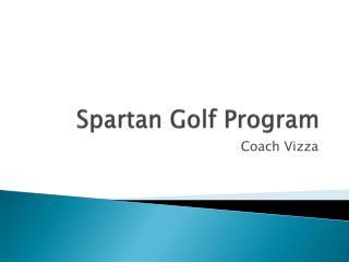 Spartan Golf Program