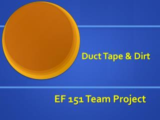 EF 151 Team Project