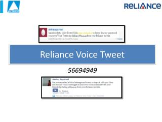 Reliance Voice Tweet