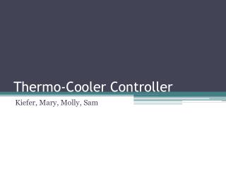 Thermo-Cooler Controller