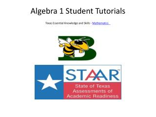 Algebra 1 Student Tutorials Texas Essential Knowledge and Skills -  Mathematics