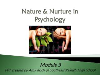 Nature & Nurture in Psychology