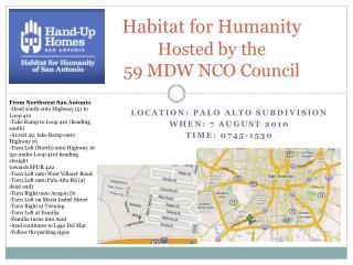 Habitat for Humanity Hosted by the  59 MDW NCO Council