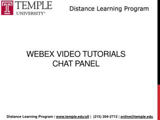 Webex  Video Tutorials  Chat Panel